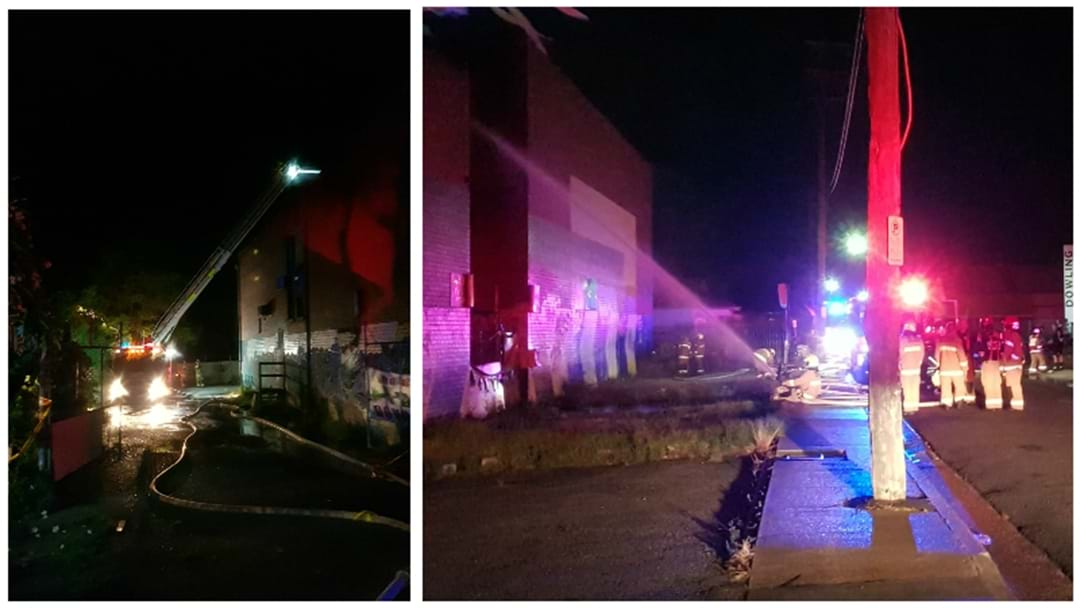 Fire Engulfs Old Wallsend Squash Courts