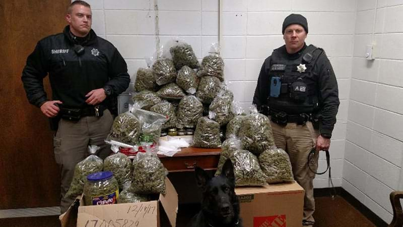 Elderly couple tell Nebraska deputies 60 pounds of pot for Christmas gifts