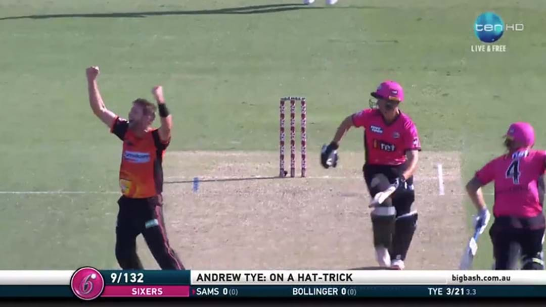 Andrew Tye Just Took The First Hat-Trick Of This Big Bash Season