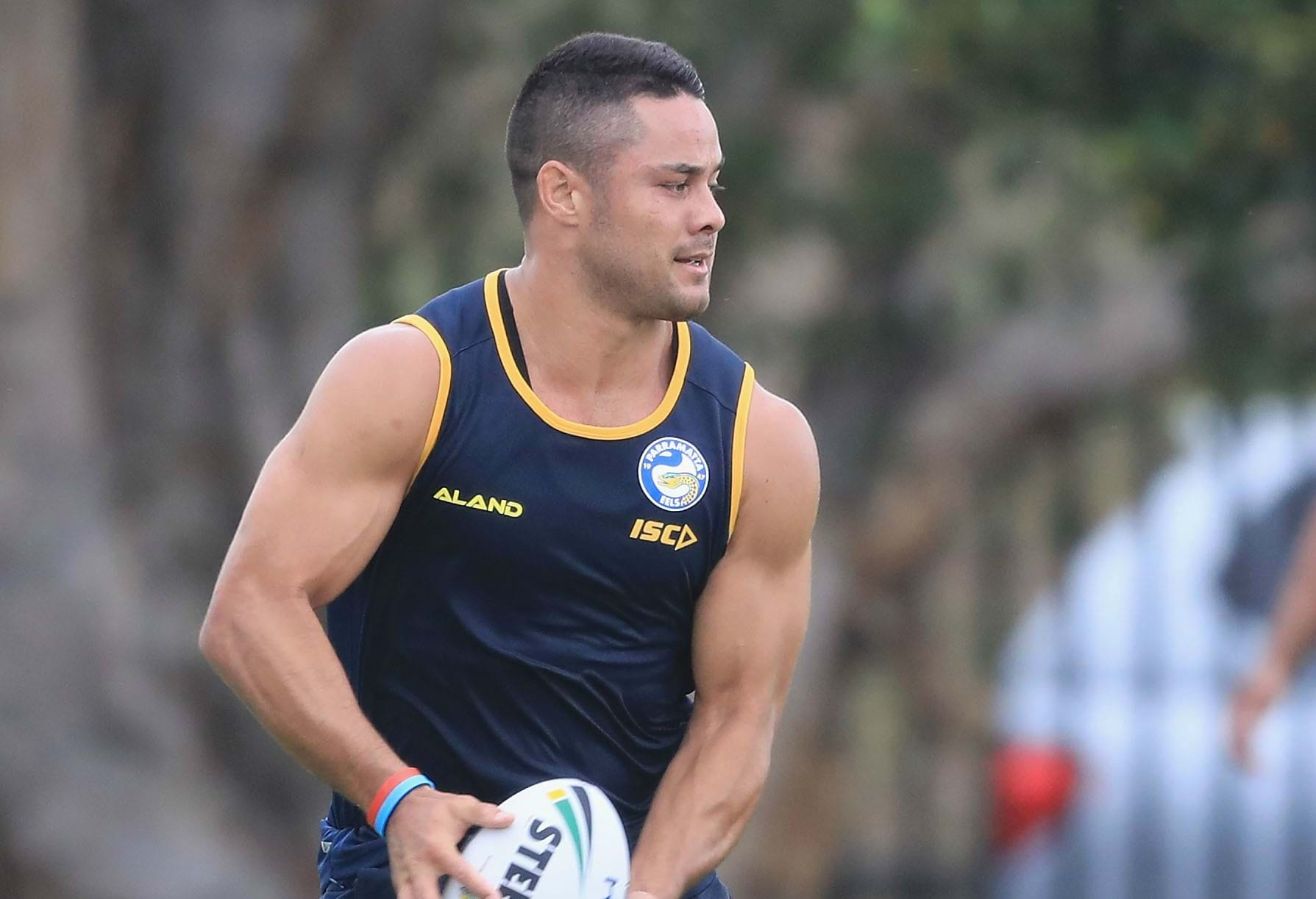 Jarryd Hayne Undergoes Fitness Drills On First Day Back With Eels