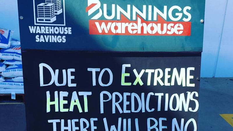 Article heading image for It's So Bloody Hot In Melbourne That Bunnings Is Cancelling Sausage Sizzles