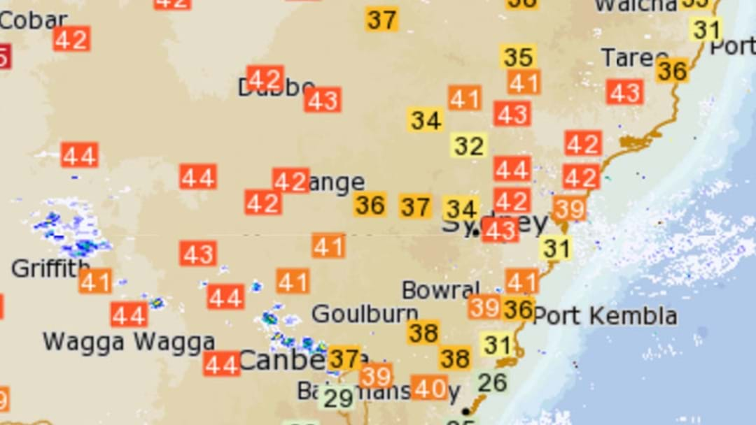 Metropolitan Sydney Has Recorded Its Highest Temperature Ever Today