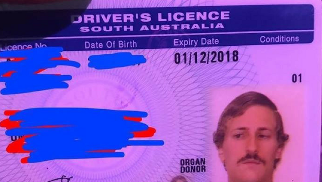 Aussie Bloke Somehow Gets Away With Signing His Driver's Licence With A Penis