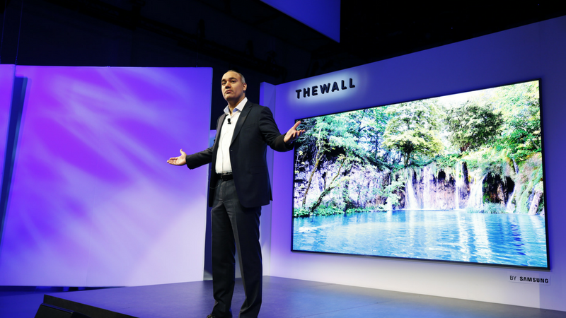 Samsung The Wall 146 Inch TV Shown Off On Video