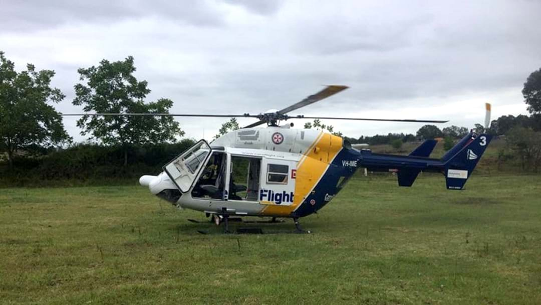 Man Airlifted From Kincumber To RNS With Significant Burns