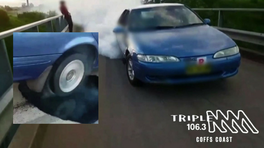 Hoon Drivers Using Oil on Bridge for Burnouts