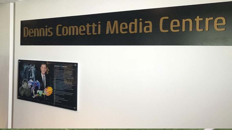 Article heading image for Footy Broadcasting Legend Dennis Cometti Honoured At The New Perth Stadium