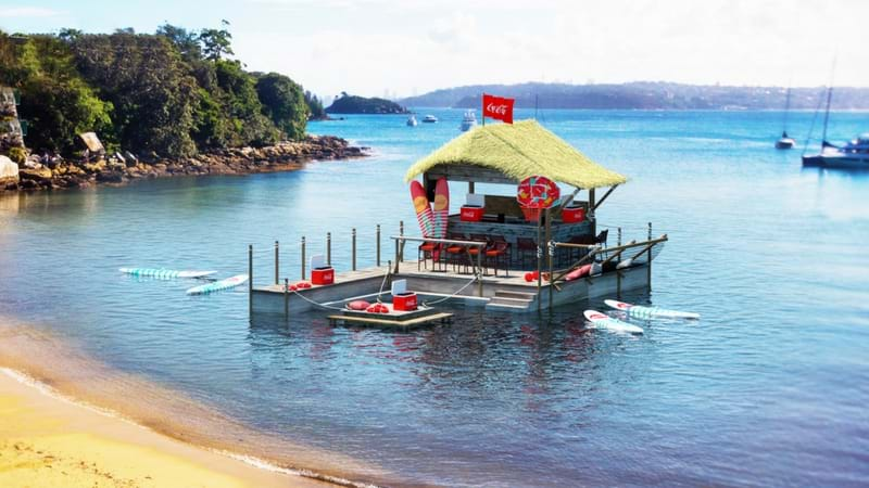 Article heading image for Coca Cola Are Chucking An Epic Party On A Floating Pontoon In Sydney Harbour This Weekend
