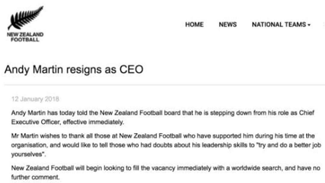 Someone Hacked The Official New Zealand Soccer Website And Sacked Their CEO