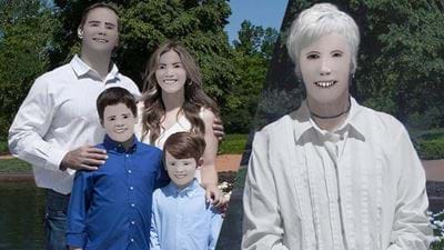 Family Stitched Up By Horrific Photoshop From Professional Photographer