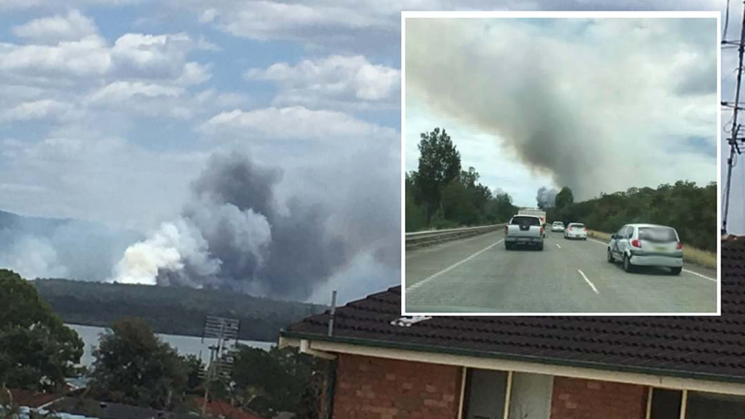 Fiery Crash On M1 At Cooranbong