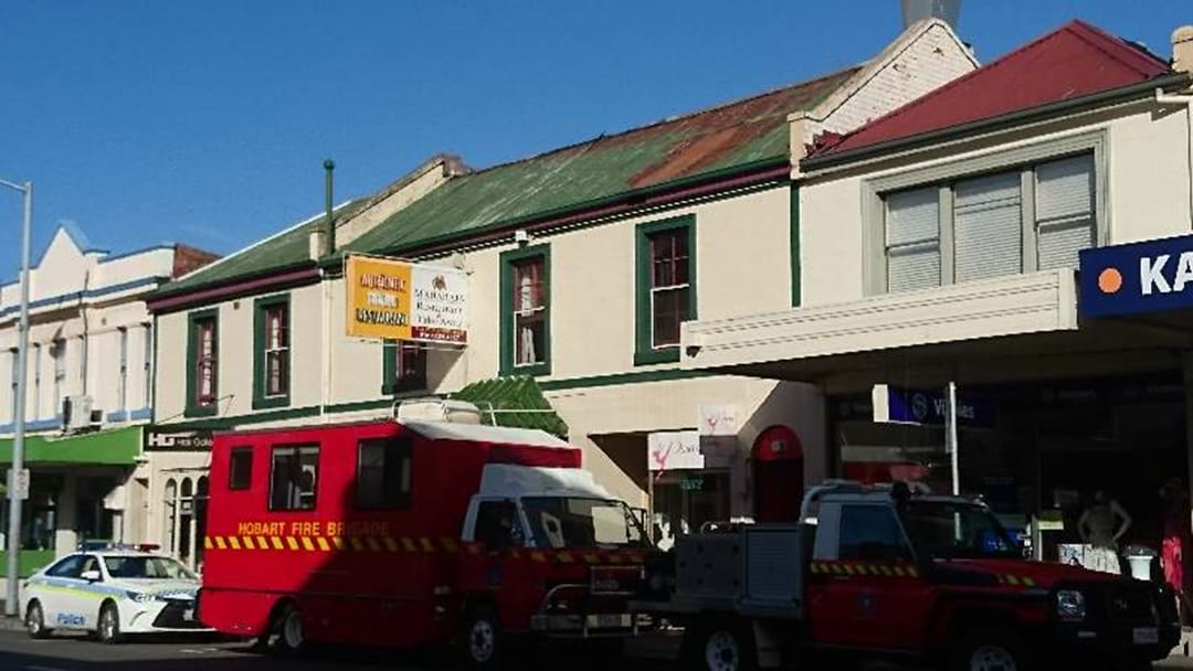 Restaurant blaze in Hobart