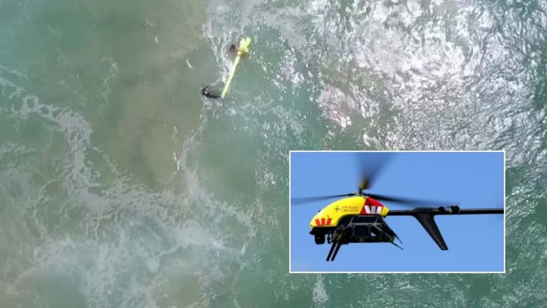 World First Drone Rescue Saves Teens Off Northern NSW