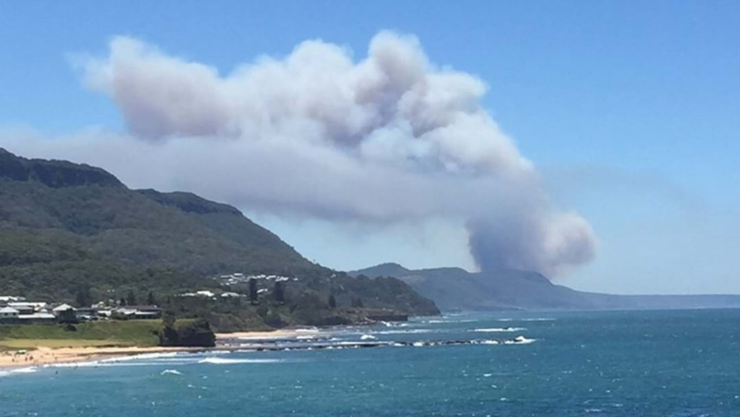 Out-of-Control Fire Burning In The Royal National Park