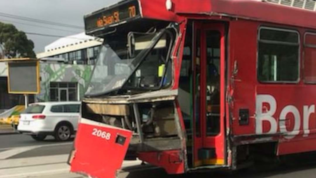 Reports A Tram Has Crashed In Melbourne's Inner Suburbs