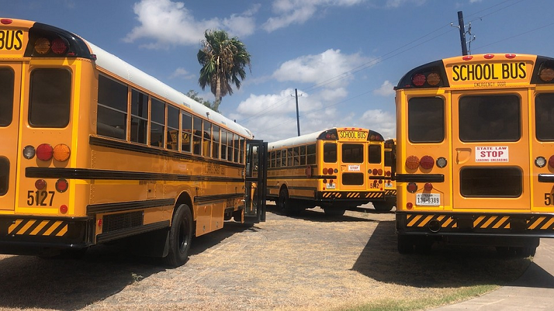 Girl missing after first day of school found trapped inside school bus