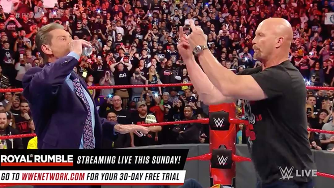 Stone Cold Steve Austin Just Returned To Raw And Dished Out Stunners To Vince & Shane McMahon