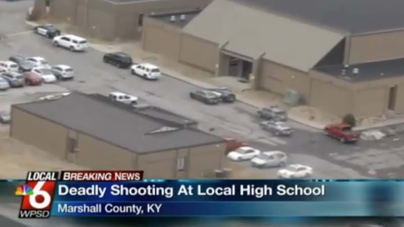 Shooting reported at Marshall Co. High School