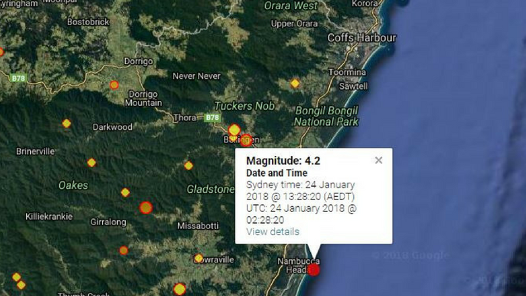 4.2 Magnitude Earthquake Shakes Coffs Harbour