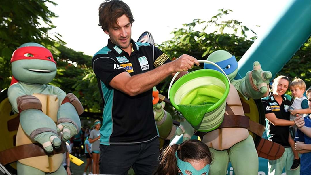The Big Bash Celebrated Their Millionth Fan By Having Joe Burns Pour Slime On A Child