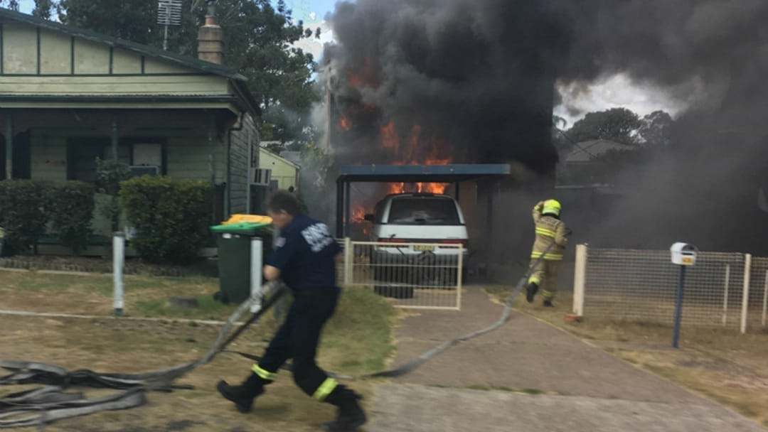 BREAKING: Kurri Kurri Home Goes Up In Flames
