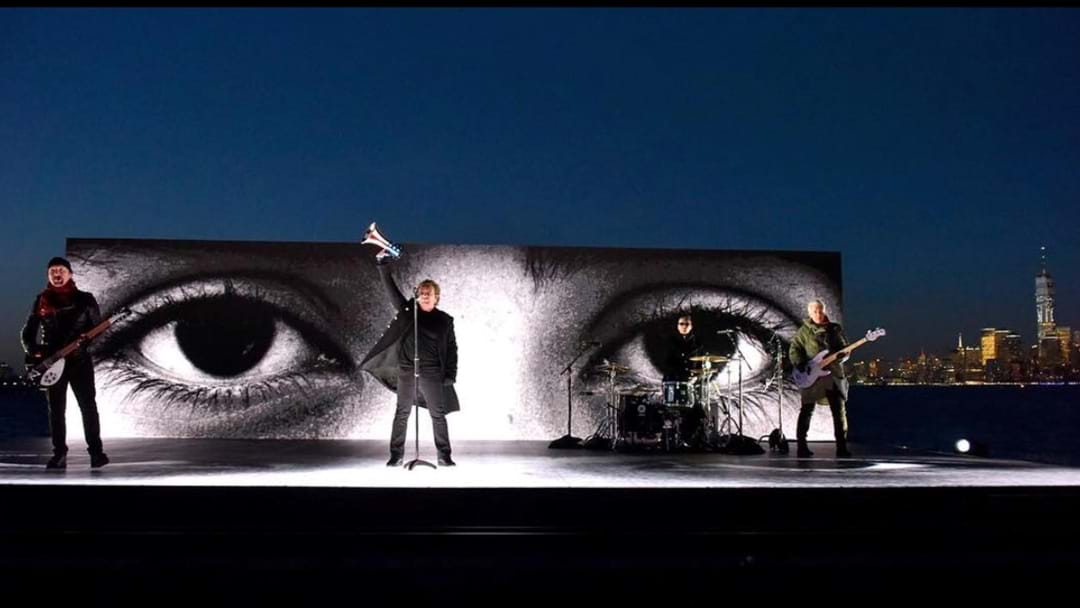 U2 Perform On The Hudson River