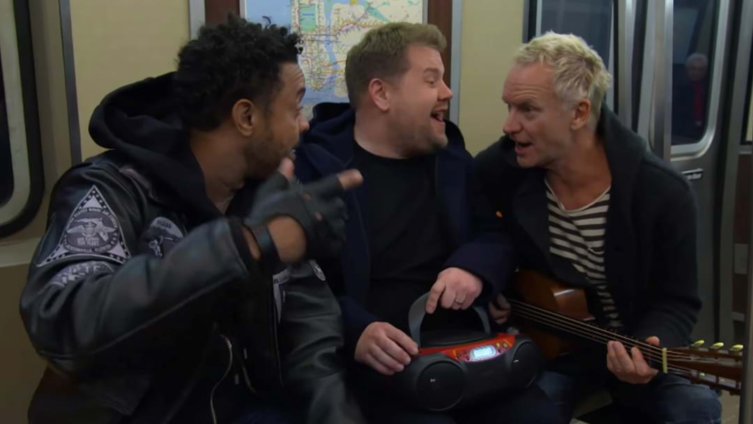 WATCH: Sting's Hilarious Take Of Car Pool Karaoke