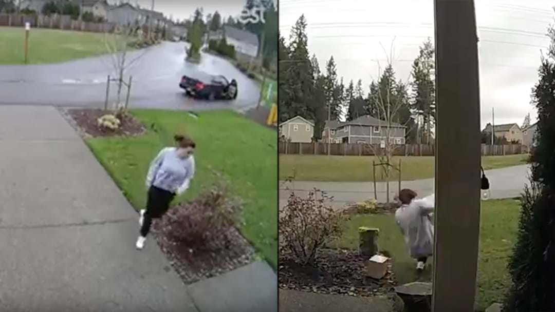 Thief Steals Package From Front Doorstep, Snaps Leg Trying To Get Away