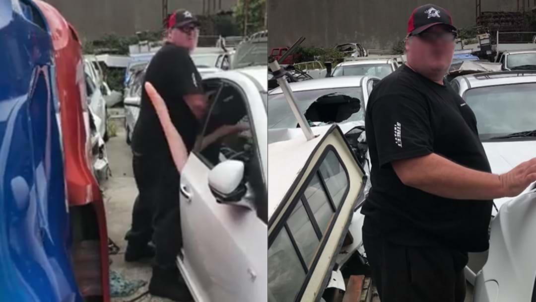 Watch: Bloke Gets Sprung Rooting Blow-Up Doll In Used Car Yard