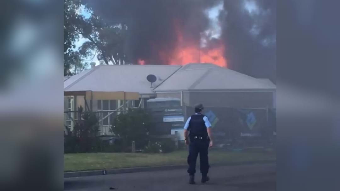 WATCH: House Engulfed In Flames At Warners Bay