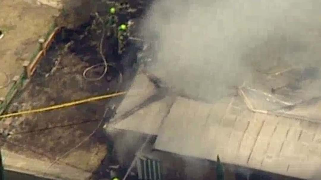 Firefighters Battling House Fire In Sydney's West