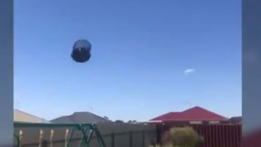 Rare Weather Event Sends Trampolines Flying