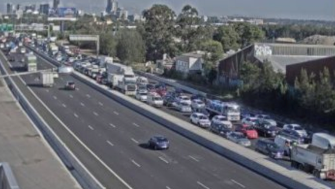 Traffic On The M4 Is Queued Back 8km After A Two-Car Crash This Morning