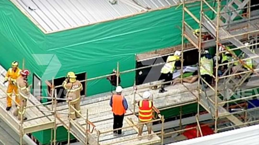 Reports A Man Has Fallen From Scaffolding At A Building Site