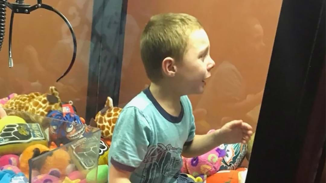 Off-Duty Firefighter Rescues Young Lad Stuck In Claw Machine