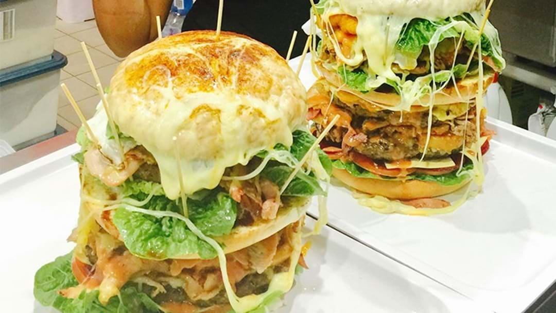 Meet The Unconquerable Man v Food Inspired 5kg Aussie Burger