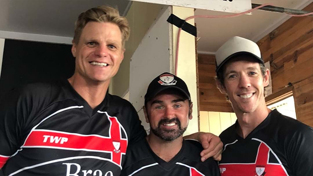 Bob Murphy And Nick Riewoldt Played A Charity Cricket Match Yesterday And Dominated