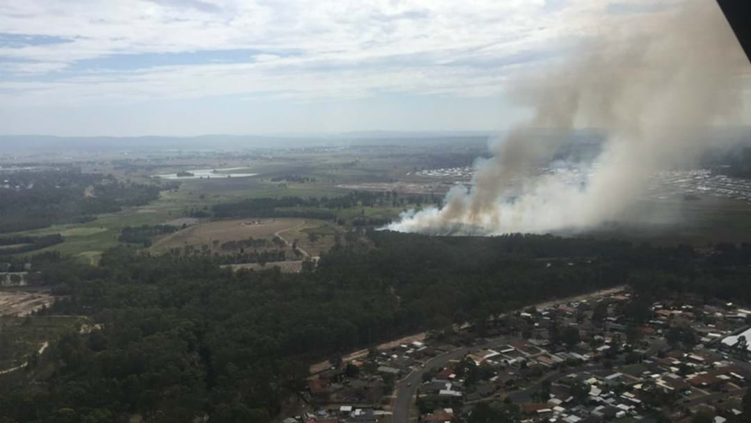 Firefighters Battle Blaze At East Maitland