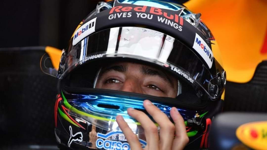 Daniel Ricciardo Shows Off New Helmet