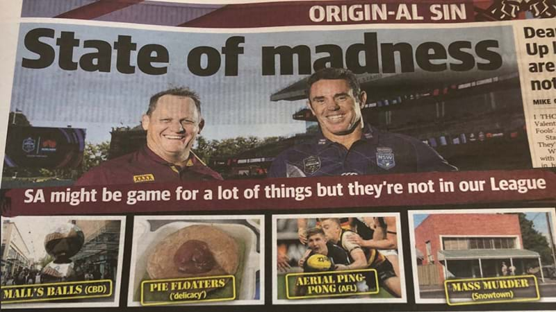 Article heading image for The Courier Mail Is PISSED That Adelaide Is Hosting A 'State Of Origin' Game