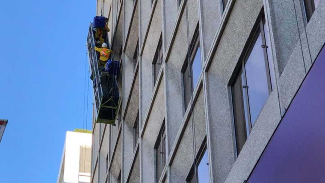 Window Cleaners Left Dangling Over Sydney Street