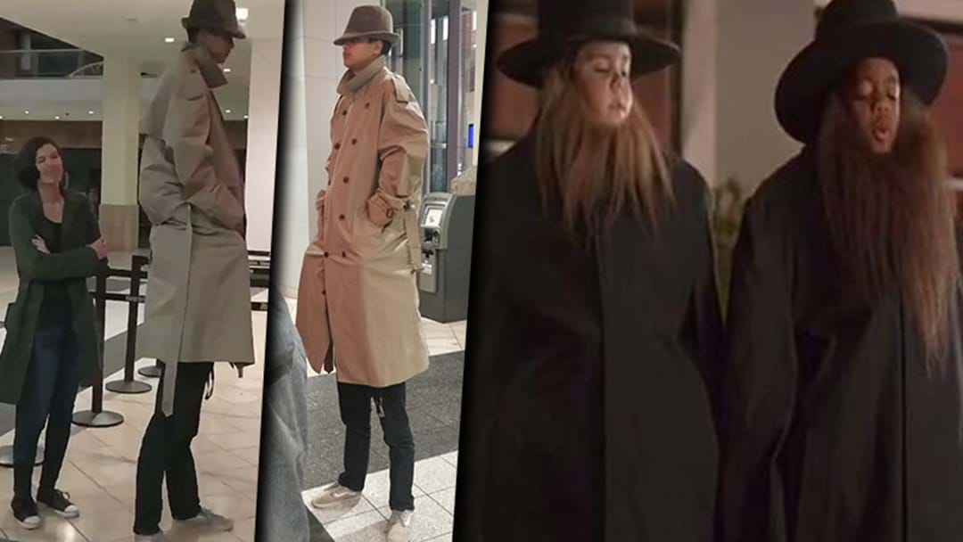 A Couple Of Guys In America Tried Out The Two Kids In A Trench Coat Trick To Get Into A Movie