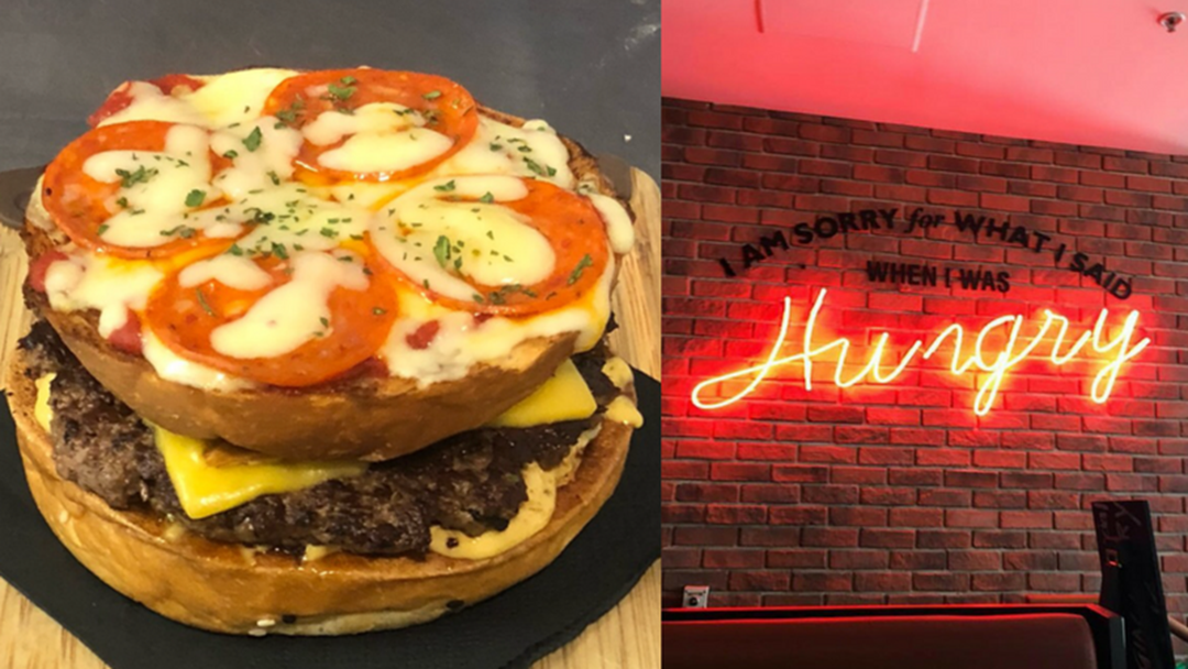 There's A Pizza-Burger Now Available In Surfers Paradise