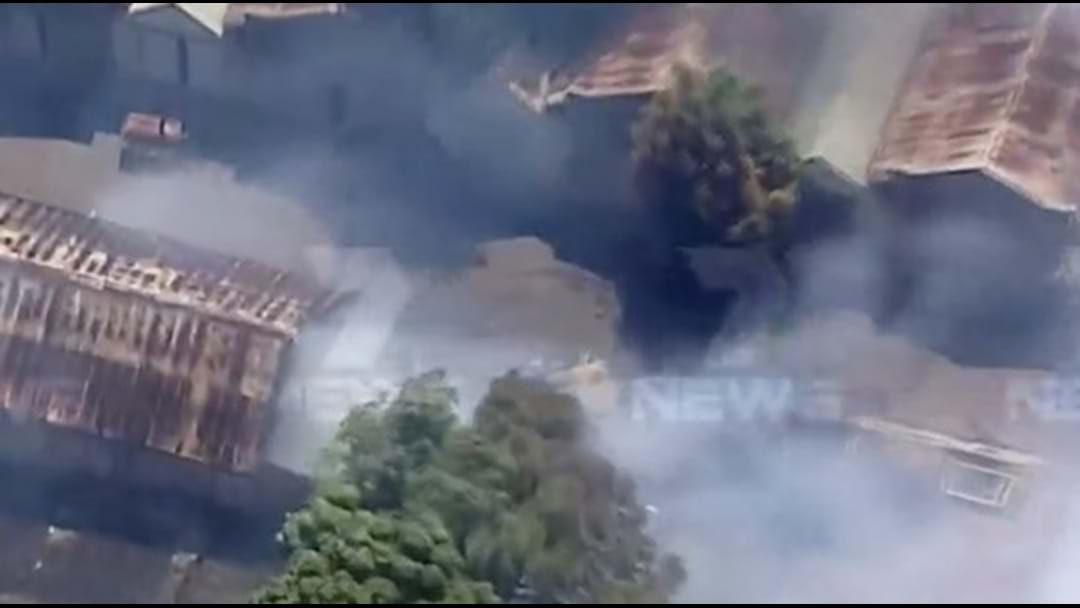 Risk Of Explosions At Structure Fire Blazing In Melbourne's West