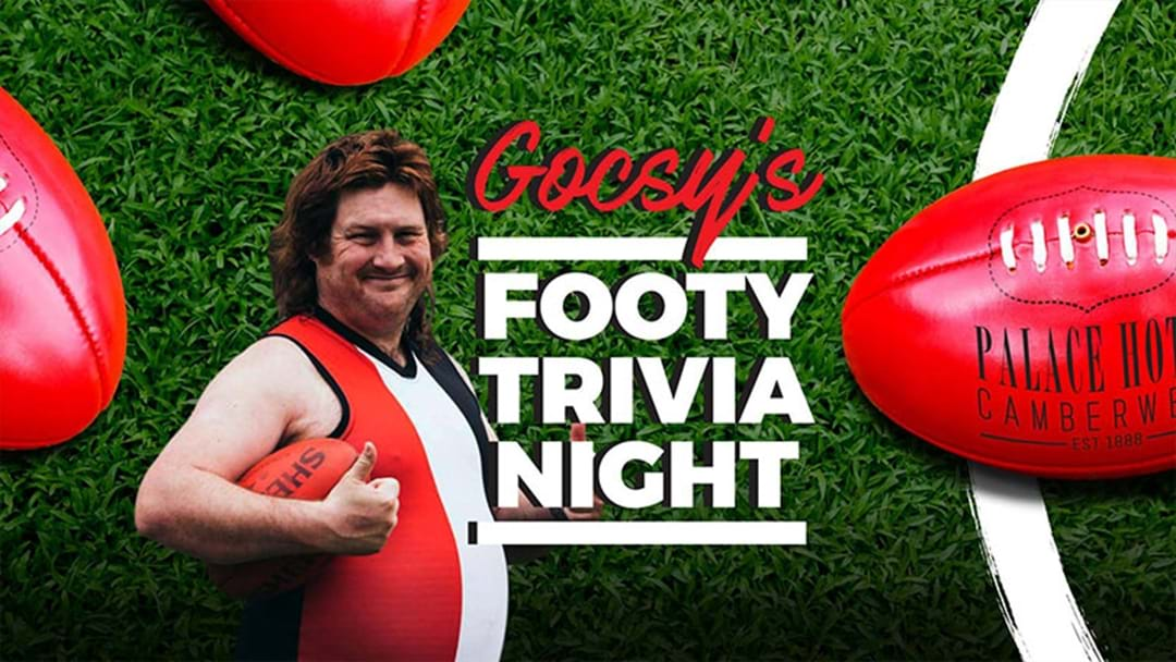 A Pub In Camberwell Is Doing A Footy Trivia Night Hosted By Aaron Gocs