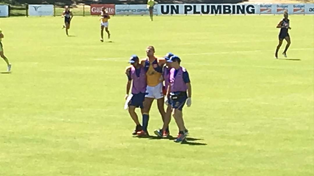 Nathan Vardy Carried Off In West Coast Practice Match