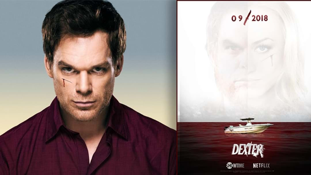 a new promotional poster for dexter appeared from nowhere and does
