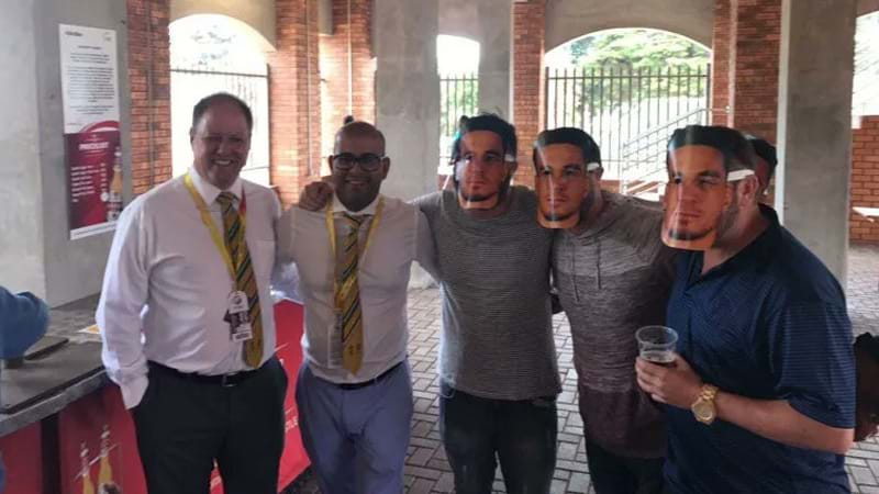 South African Officials Under Fire For Posing With Fans Wearing Sonny Bill Williams Masks