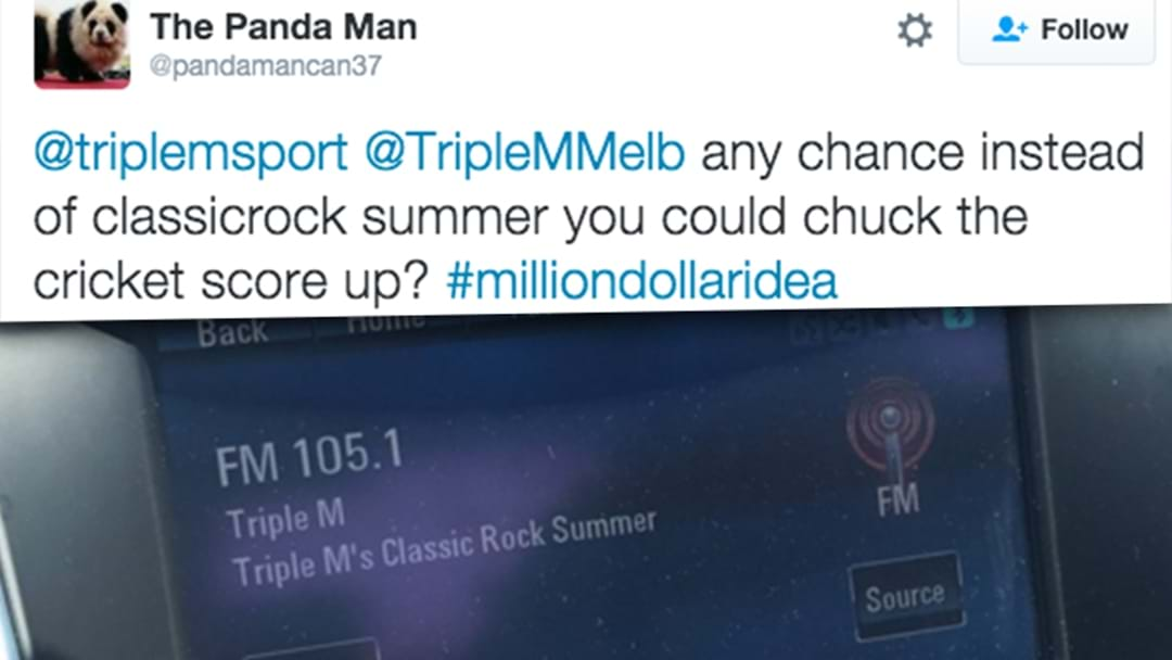 Genius Triple M Cricket Fan's Idea Is Already Up And Running