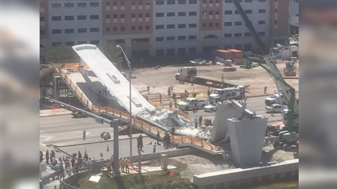 Several Trapped After Week-Old Pedestrian Bridge Collapses In Miami